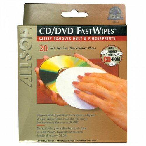 ALLSOP 50100 20 CD FastWipes(TM), 20 pk kitasp29248unv15001 value kit allsop redmond monitor stand asp29248 and universal desktop tape dispenser unv15001