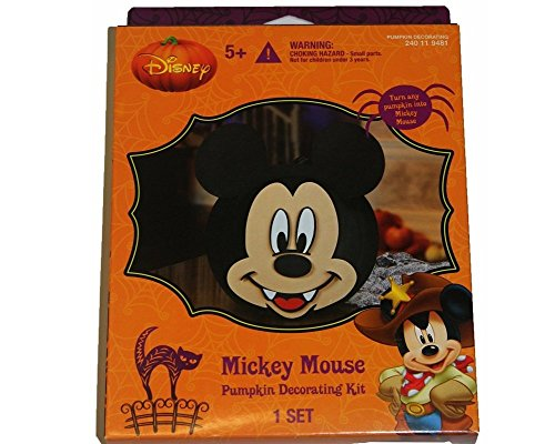 Disney mickey mouse pumpkin decorating kit art supplies for How to paint a mickey mouse pumpkin