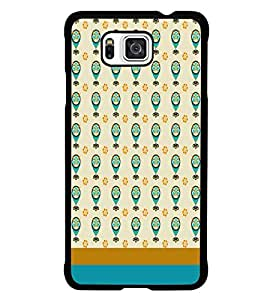 PrintDhaba Owl pattern D-1841 Back Case Cover for SAMSUNG GALAXY ALPHA (Multi-Coloured)