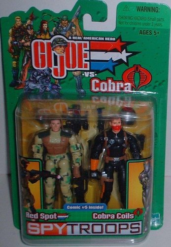 Red spot & Cobra Coils 2 pack GI JOE spy troops G.I. 2003