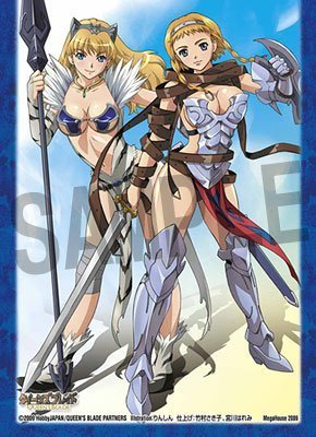 Queens Blade Chara Sleeve P-1 Leina & Elina (Anime Toy) - 1
