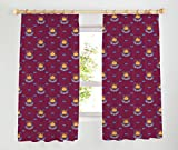 West Ham United Tape Top Curtains, Claret, 66 x 54-Inch