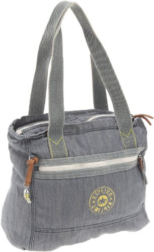 Kipling Women's Bocco Shoulder Bag Washed Denim K12221514