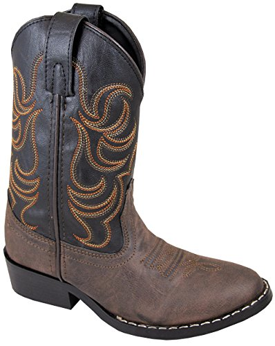 Smoky Mountain Children Boys Monterey Western Cowboy Boots Brown/Black, 1M (Kids Boots For Boys compare prices)