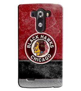 Blue Throat Black Hawks Chichago Printed Designer Back Cover For LG G3