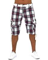 Bermuda Été Short homme Capri pantalon pantacourt vintage décontracté