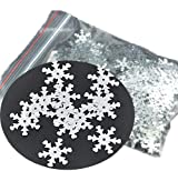 Rockin Beads Brand, 1000 Silver Snowflake Sequins for Sewing Card Making Scrapbooking Crafts 19mm