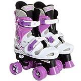 Osprey Girls Adjustable Quad Roller Skates Size 3-5