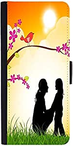 Snoogg Mothers Day Background Graphic Snap On Hard Back Leather + Pc Flip Cov...