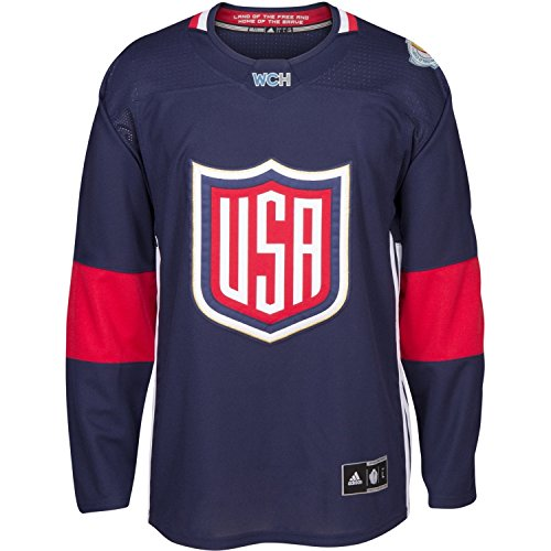 USA 2016 World Cup Of Hockey Youth Navy Adidas Premier Jersey S/M