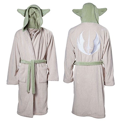 Ufficialmente autorizzato Star Wars Yoda personaggio crema adulto vestaglia con orecchie