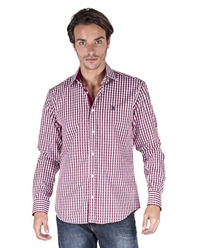 Giorgio Di Mare Camicia Uomo [Bianco/Rosso]