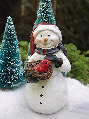 [1 ^^ ^ Miniature Dollhouse FAIRY GARDEN ~ CHRISTMAS Snowman with Cardinal & Bird Nest] (Monster High Snow Girl Costume)