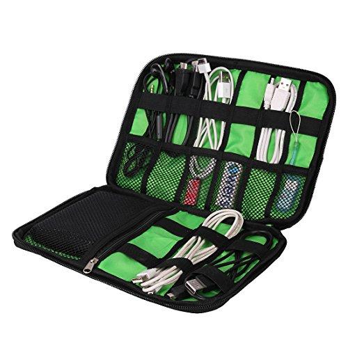 (バッグ・マート)Bags-mart ACアダプター PC周辺小物用収納ポーチ ゴム・バンドが縫い付け プレゼント クリスマス ギフト