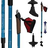 DENQBAR - Bastoncini da nordic walking, con sistema di ammortizzazione Anti-Shock, 67 - 138 cm (ghiaccio azzurro)