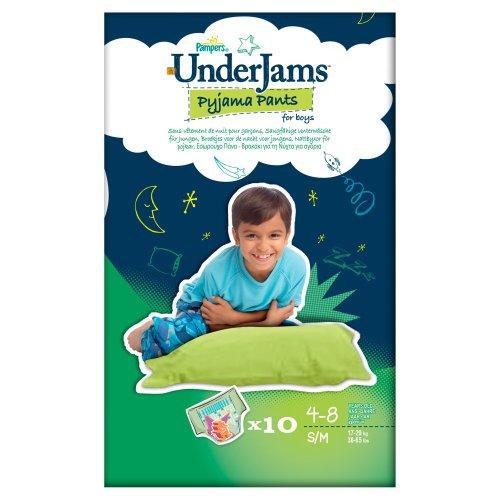 Pampers Underjams Size 7 Boy 10 Pants (Pack of