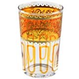 Orange Essaouira Moroccan Tea Glass