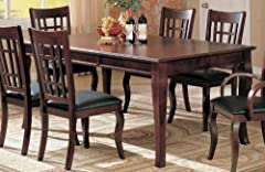 Coaster Contemporary Dining Table With A Rich Cherry Finish