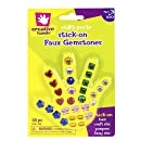 Creative Hands by Fibre-Craft - 30-Piece Stick-On Faux Gemstones - Arts and Crafts - No Scissors or Glue Required - For Ages 3 and Up