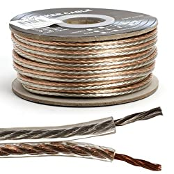 Loudspeaker wire 16 AWG 2 conductor, 100 ft, clear color