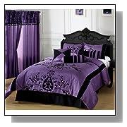 Purple Comforter Sets - Black and purple comforter sets