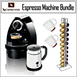Nespresso Essenza C101 with Aeroccino Automatic and Programmable Coffee Qua ....