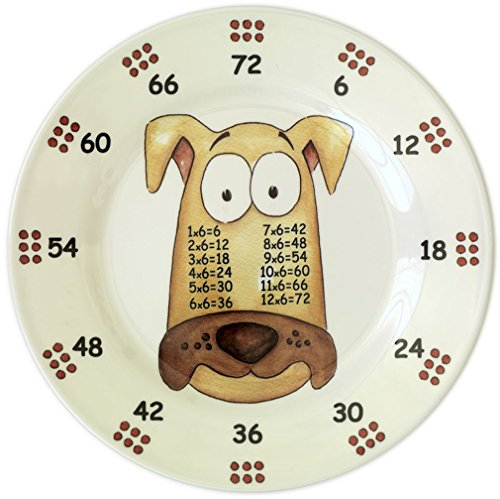 The Multiples Times Table Dinnerware Monsieur Six-y 9 inch Melamine Plate