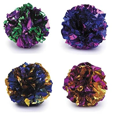 Crinkle Balls cat kitten toys 4 pack