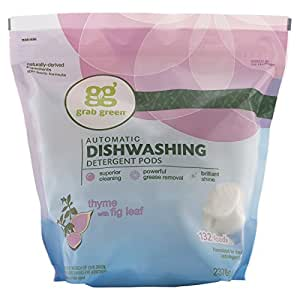 Grab Green Natural Automatic Dishwashing Detergent, Thyme with Fig Leaf, 132 Loads