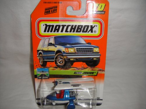 MATCHBOX #70 OF 100 AIR TRAVEL SERIES BLUE AND WHITE 2000 TEMPO TREASURE HUNT AERO JUNIOR DIE-CAST COLLECTIBLE - 1
