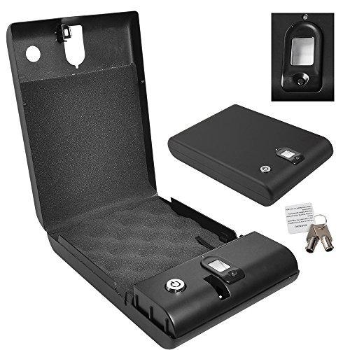 Yescom Biometric 100 Fingerprint Keyless Gun/pistol Safe Biobox Travel Car