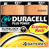 Duracell Plus Power Pack de 4 Piles Alcaline 9 V