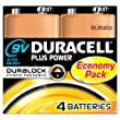 Duracell MN1604 Plus Power 9v Batteries--Pack of 4