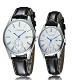 iSweven isweven Couple watches with calendar waterproof retro design Analogue Black Unisex Wrist Watch W1024aa