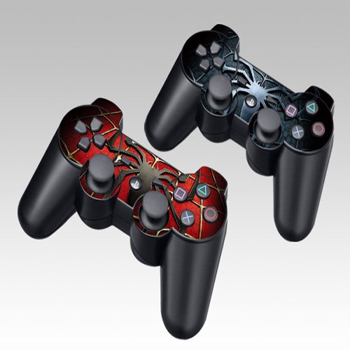 Spiderman Design Skin Decal Sticker for the PS3 Playstation 3 Controller 2pcs in 1