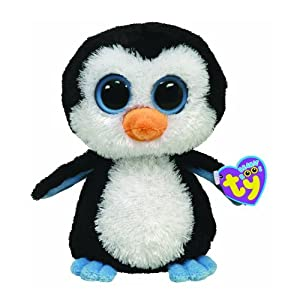 "Ty Juliet Pink Penguin -- 6"" Plush Penguin, Beanie Boos Collection from Ty"