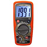 Triplett High Performance 2000 Count Digital Multimeter -  AC/DC Voltage, AC/DC Current, Resistance, Continuity, Diode Test, plus Temperature, Frequency and Capacitance (9007-A) (Color: Red)