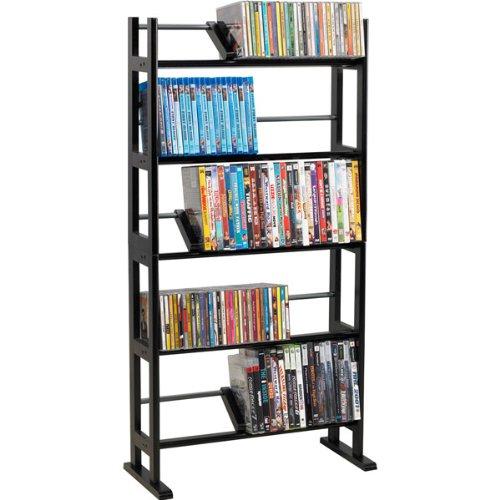 Image of NEW 230-CD/150-DVD/Blu-rays Element Wood/Metal Multimedia Storage Rack (Stands Mounts & Furniture) (B0076SX0KQ)