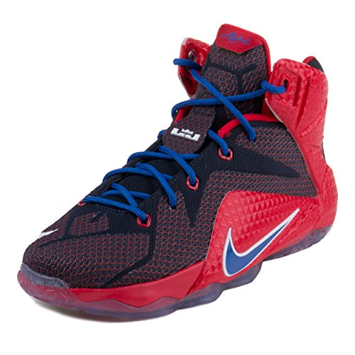 Nike Kids Lebron XII (GS) Unvrsty Rd/Gm Ryl/Mid Nvy/Lyn Basketball Shoe 6.5 Kids US (All Lebron James Shoes compare prices)