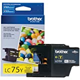 Brother Printer LC75Y High Yield (XL Series) Yellow Cartridge Ink - Retail Packaging