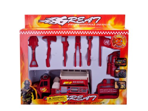 Bulk Buys Fire Engine Toy Vehicles Set Pack Of 4