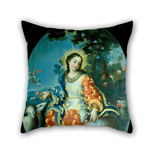 Artistdecor Pillow Cases Of Oil Painting Miguel Cabrera - The Divine Shepherdess,for Study Room,girls,dining Room,bar,bedroom,floor 18 X 18 Inches / 45 By 45 Cm(two (Shepherdess Costume)