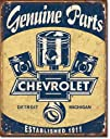 Chevrolet Chevy Genuine Parts Pistons Distressed Retro Vintage