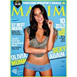 Maxim #158 February 2011 Olivia Munn Beer Awards The Future of Awesome Super Bowl Spectacular Threesome Operator's Manual
