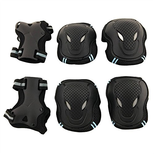 Oursmile-Children-kid-Skateboard-Roller-Blading-Elbow-Knee-Wrist-Protective-Gear-Pads-Safety-Gear-Pad-Guard-6pcs-Set-for-Skateboard-Cycling-Roller-Skating-and-outdoor-sport