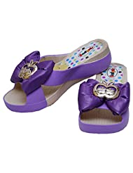 GADGETS Women's Purple Mesh Formals & Lace-Up Flats Shoes - B00Y0LSJJE