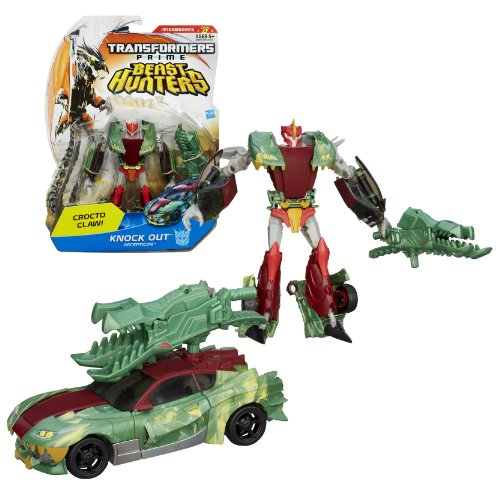 """Hasbro Year 2012 Transformers Prime """"Beast Hunters"""" Series 2 Deluxe Class 6 Inch Tall Robot Action Figure - #013 Decepticon KNOCK OUT with Crocto Claw Chain Weapon (Vehicle Mode: Sports Car)"""