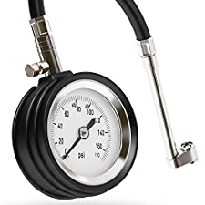 Tire Pressure Gauge – 0 to 170 PSI – Tested and Developed for Mechanics – Best for Car, Bike, Motorcycle, RV, Motorhome, SUV, ATV, Truck – geeWOW Auto
