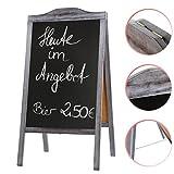 Kundenstopper 115x60 cm shabby weiss Plakatständer Werbetafel Werbeträger Gehwegaufsteller Tafel Straßenaufsteller Werbeaufsteller