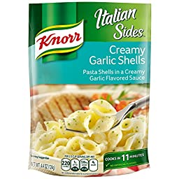 Knorr Italian Sides Pasta Side Dish, Creamy Garlic Shells 4.4 oz (Pack of 12)
